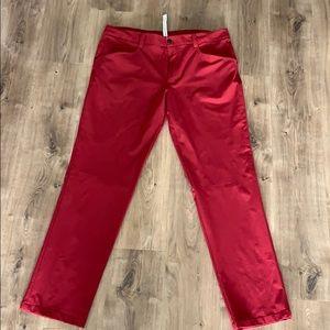 Lululemon new never worn men's pant size 40 maroon